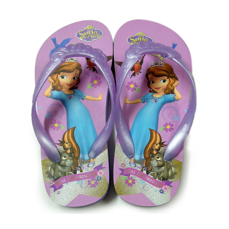 Sofia the First - Moulded Strap Slippers