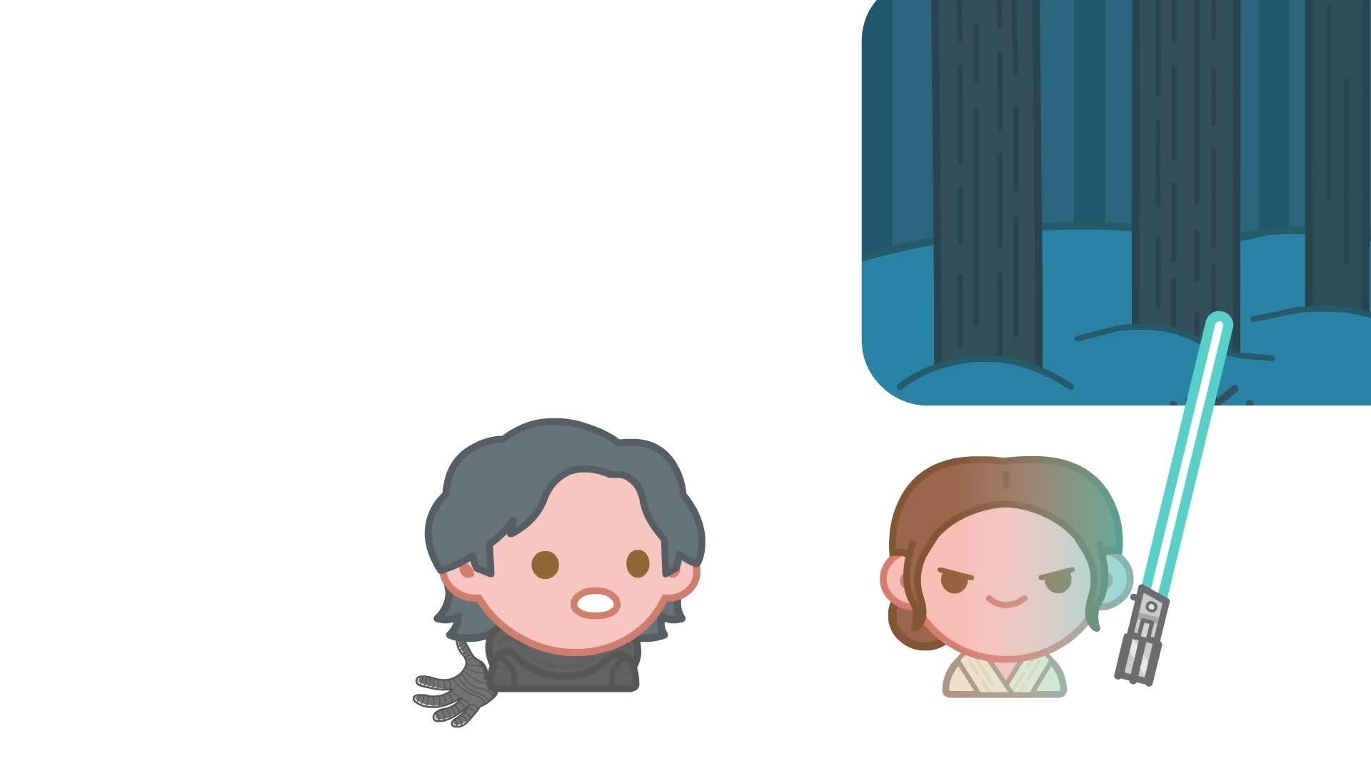 Fortalt med Emoji: The Force Awakens