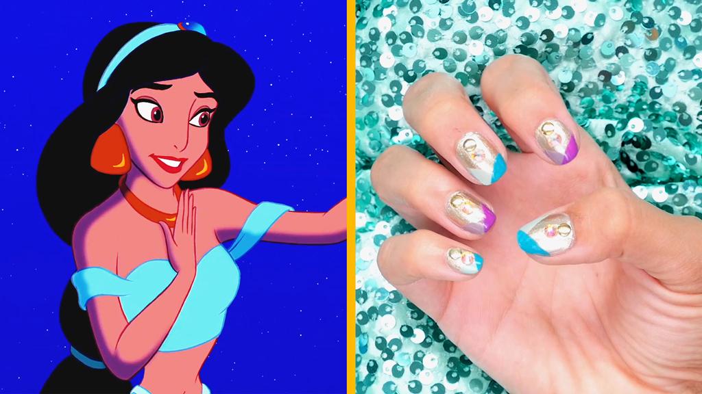 Jasmine-Inspired Nail Art - Disney Style