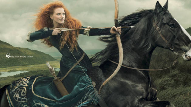 Merida Photo Shoot with Annie Leibovitz - Behind the Scenes