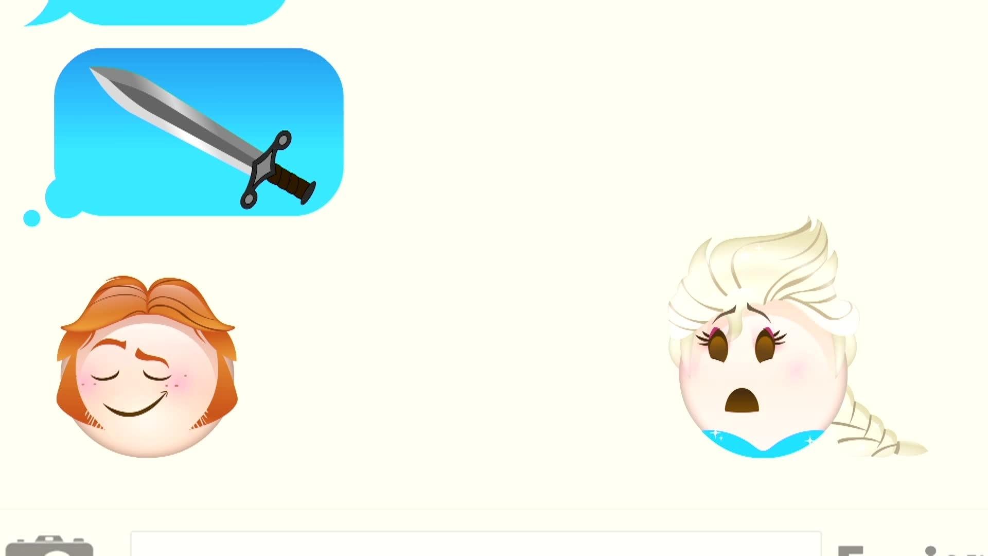Frozen contado en Emoji