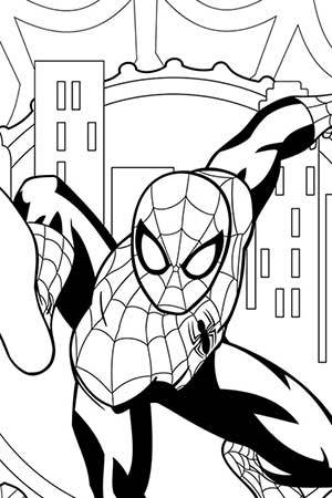 Ultimate Spider-Man Coloring Page