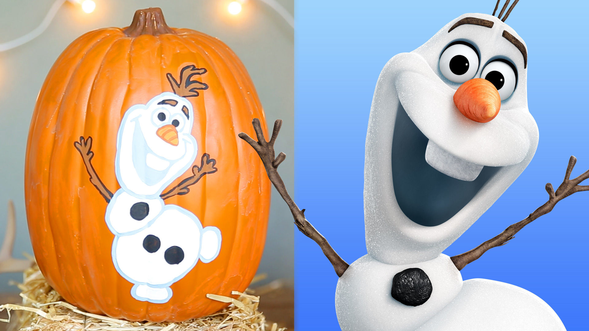 Frozen Pumpkin Painting | Disney DIY