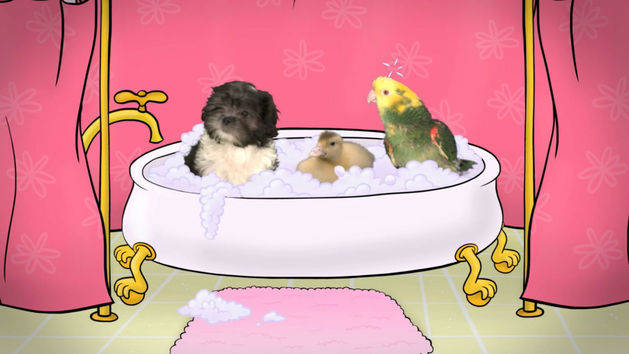 Fuzzy Tales: Rub-A-Dub-Dub: Three Pets in a Tub