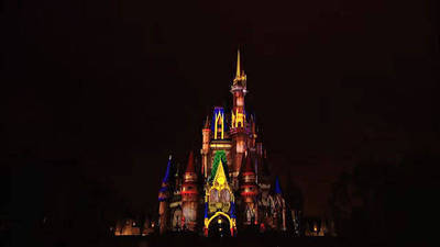Magic Kingdom Castle Projection