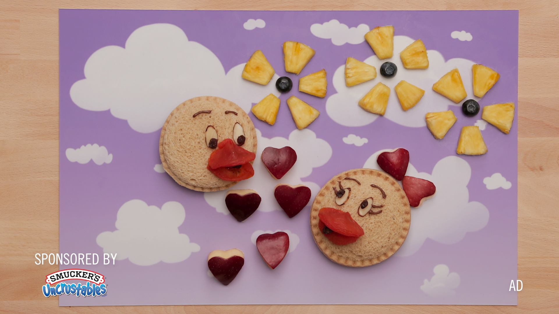 Donald and Daisy Duck - Inspired Food Art