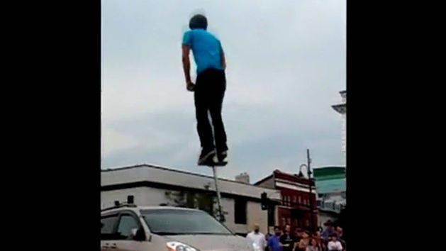 Amazing Pogo Van Jump