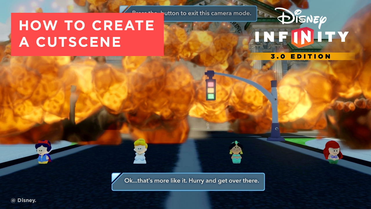 How to Make a Cutscene - Disney Infinity 3.0 Tips and Tricks