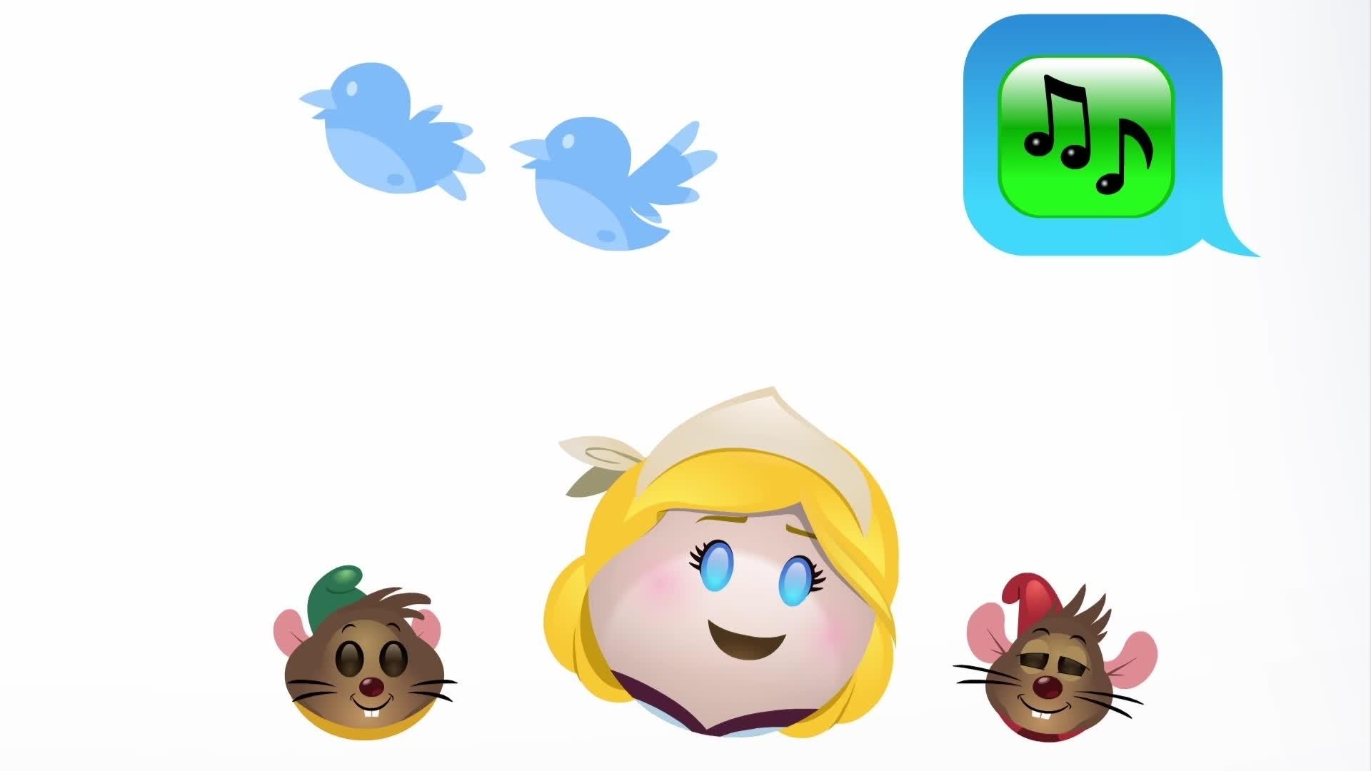 Cenușăreasa povestită de Emoji