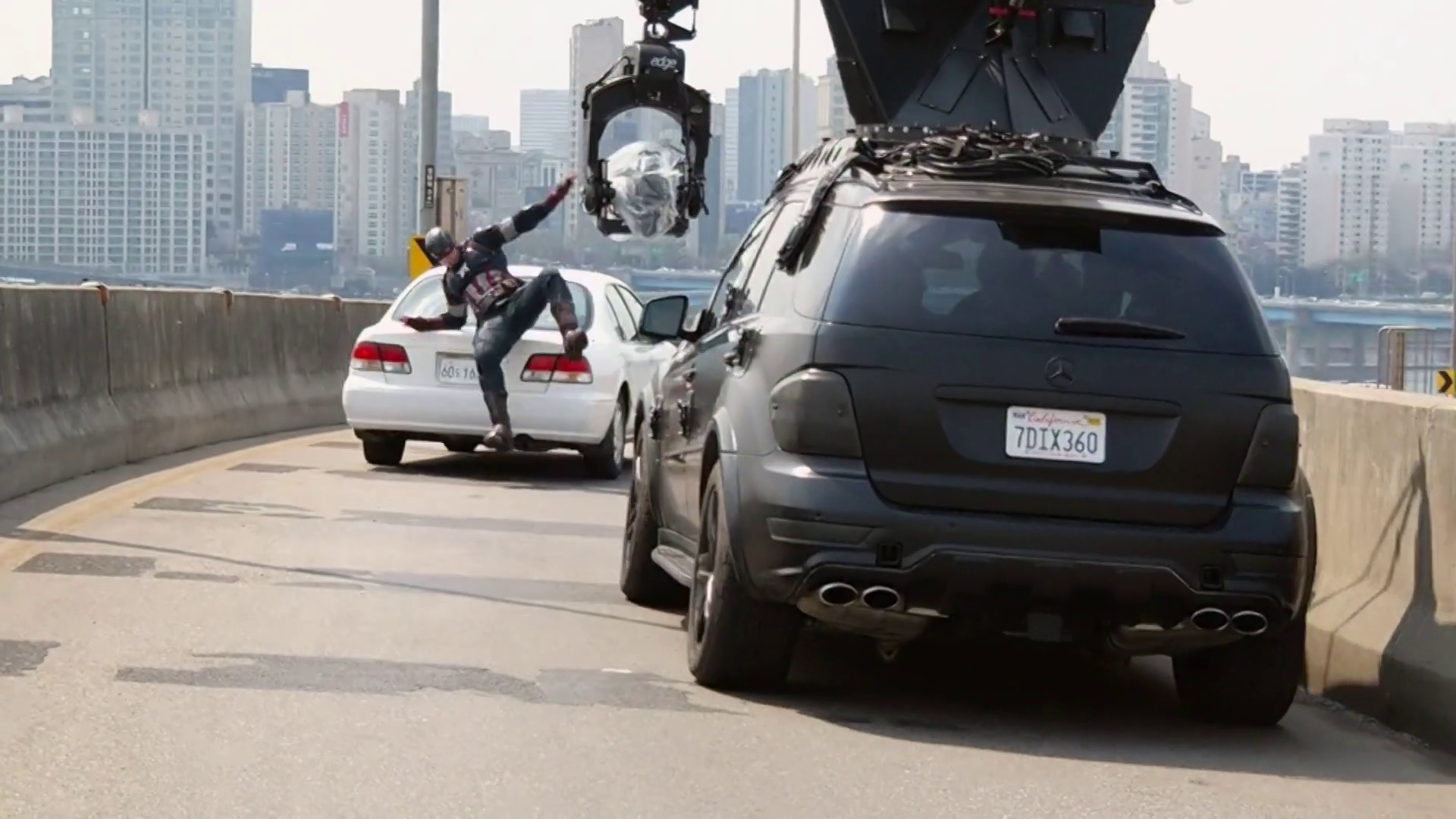 Korean Car Stunt - Avengers: Age of Ultron Behind the Scenes