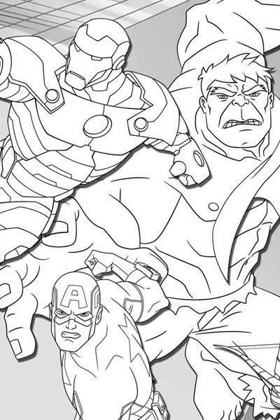 Superhero Thanos Coloring Pages: Avengers Assemble Coloring Page