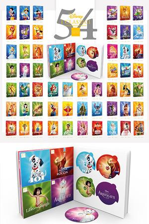 Collezione Completa Classici Disney 54 DVD