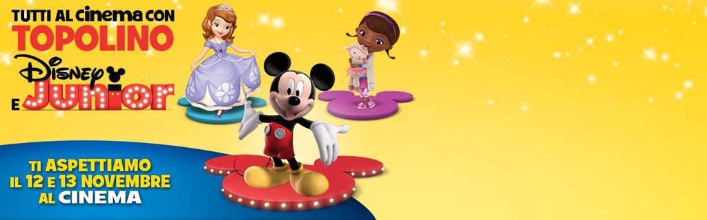 Tutti al cinema con Topolino e Disney Junior!