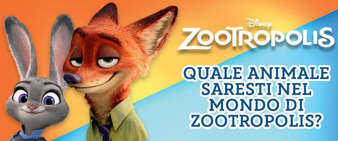 Zootropolis: Quale animale sei?