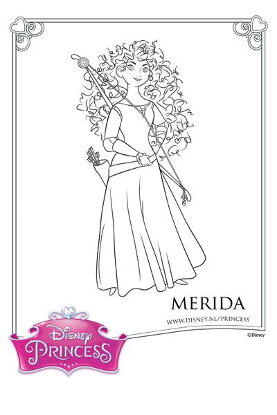 Kleurplaat Merida