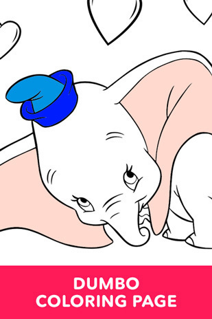 Coloring Page - Dumbo - Dumbo