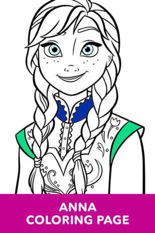 Coloring Page - Frozen - Anna