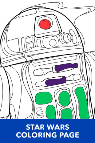 Coloring Page - Star Wars - R2-D2