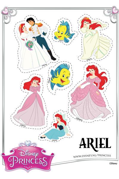 Kleurplaat Ariel Botje En Sebastiaan Princess Nl