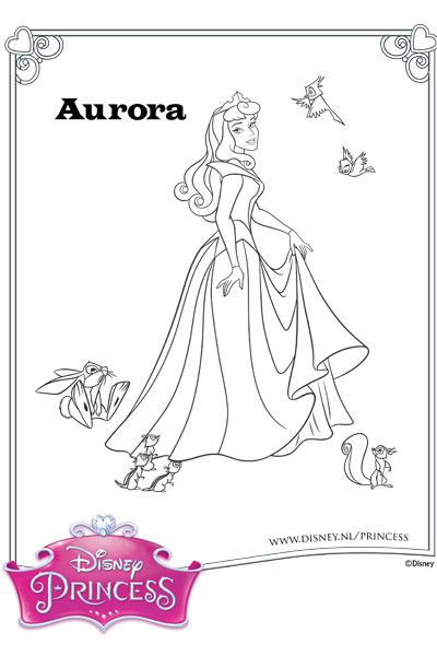 Kleurplaten Prinsessen Doornroosje Archidev