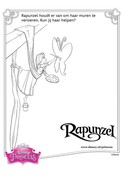 Muren versieren met Rapunzel