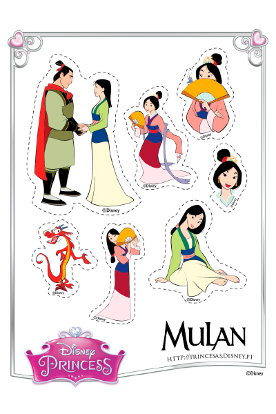 Autocolantes da Mulan
