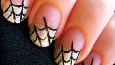 Fun Halloween Spider Web Nails