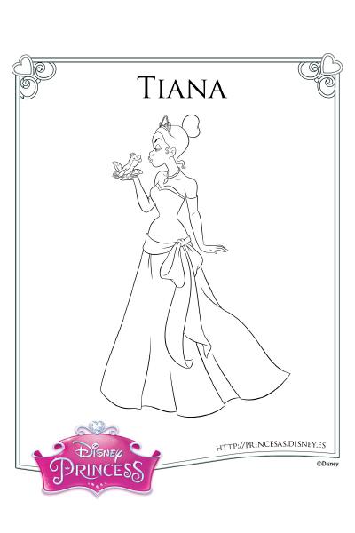 Colorea con Tiana