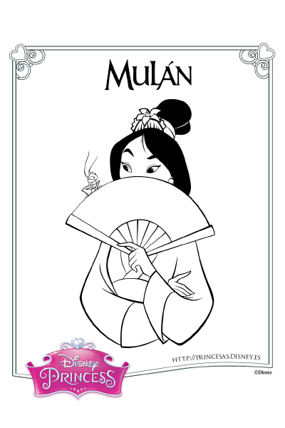Colorea con Mulán