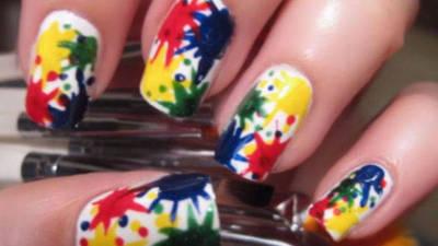 Paint Splat Nail Art