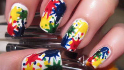 Paint Splat Nail Art