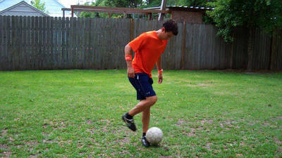 Soccer Trick - Drag Across your Standing Foot Pick Up