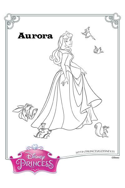 Colorea con Aurora