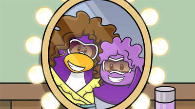 Purple Puffle's Cartoon