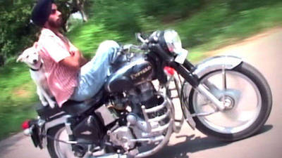 Motorcycle Riders Pull Out Their Bag of Tricks