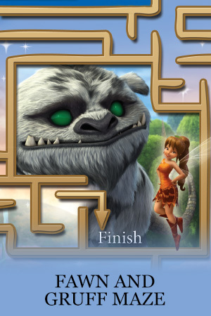 Legend of the NeverBeast Activity - Gruff Maze