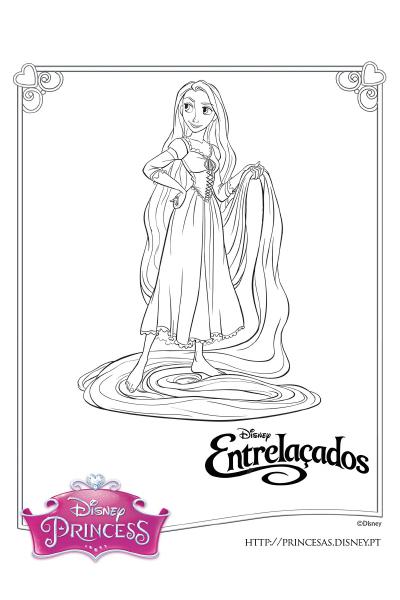 Colorir com a Rapunzel 5