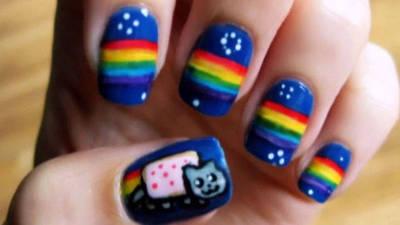 Nyan Cat Cute Nails
