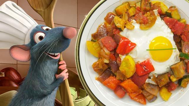 Remy's Ratatouille with Poached Egg