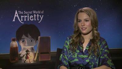 Celebrity Take with Jake: The Secret World of Arrietty Press Junket