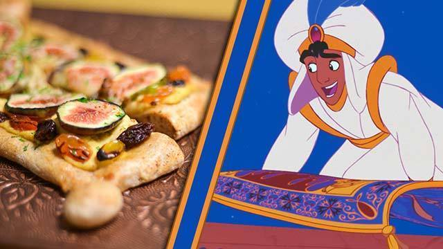 Aladdin's Magic Carpet Flatbread Pizza