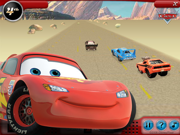 Cars Movie Desert Dash Game
