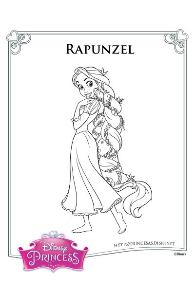 Colorir Rapunzel Princesas