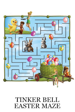 Tinker Bell and the Legend of the NeverBeast Activity  - Easter Maze