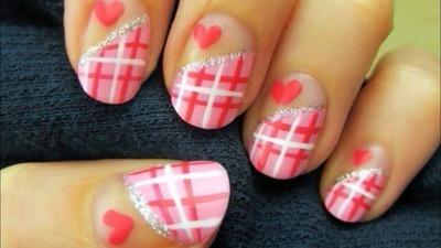 Sweet Heart Valentine Nails