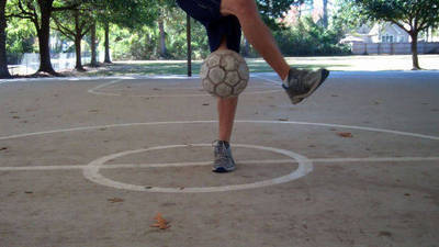 Soccer Tricks: How to Juggle with the Step Over Toe Pop