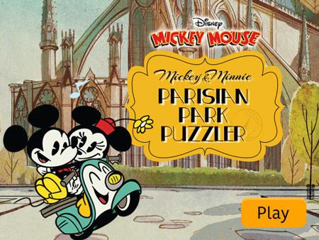Mickey & Minnie - Parisian Park Puzzler