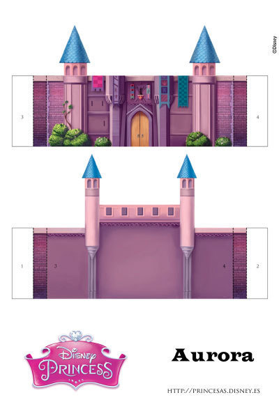 Aurora recortable princesas - Casas de princesas ...