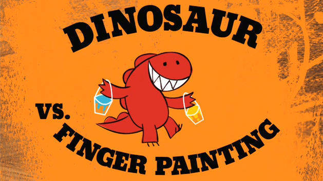 Dinosaur vs. Finger Painting