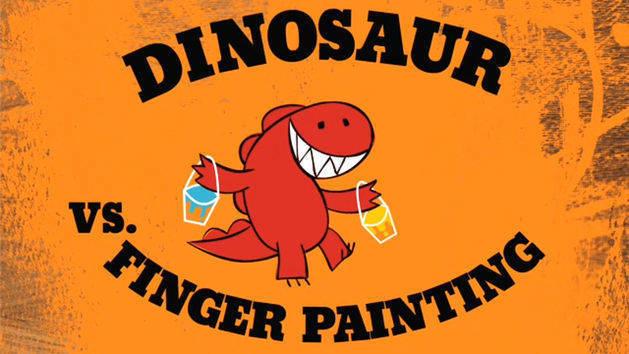 Dinosaur vs. Finger Painting